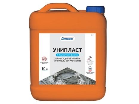 УНИПЛАСТ пластифицирующая добавка для бетонов и строительных растворов с противоморозным эффектом